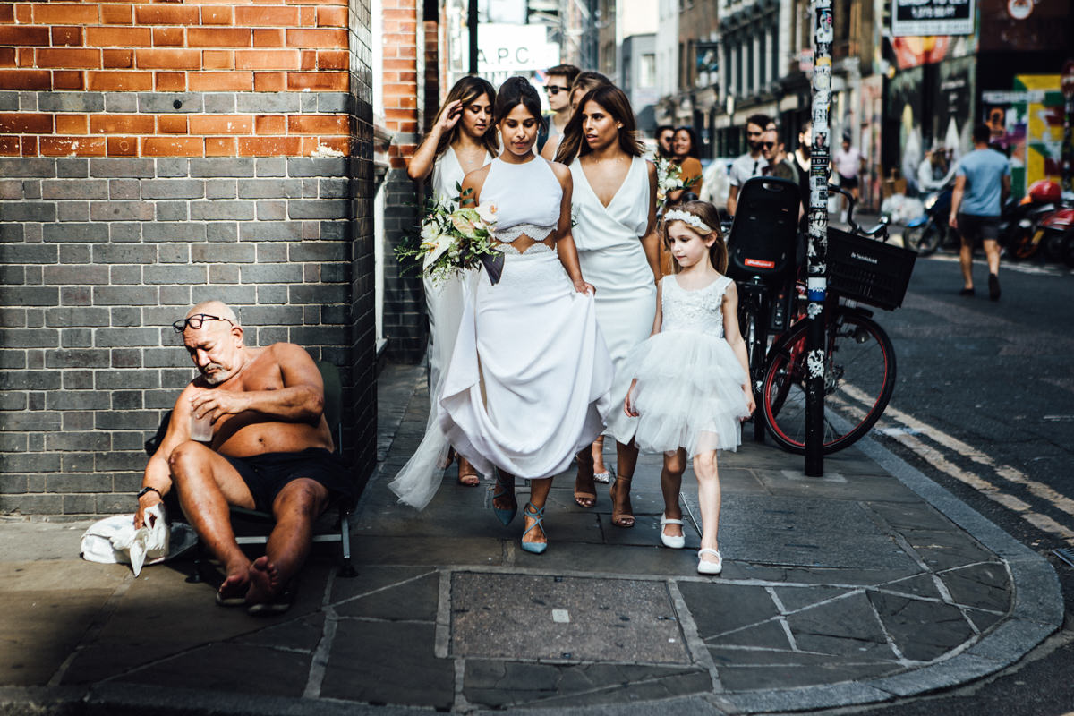 Ace Hotel Shoreditch wedding photography, London | T + D's London wedding