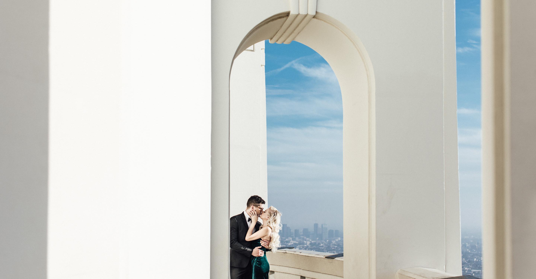 Griffith Observatory engagement photos | Los Angeles portrait shoot