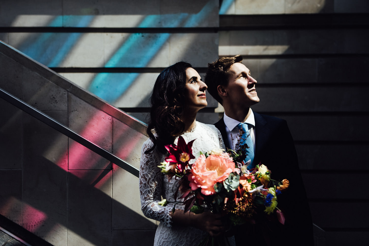 London town hall elopement photography | Marylebone wedding portrait