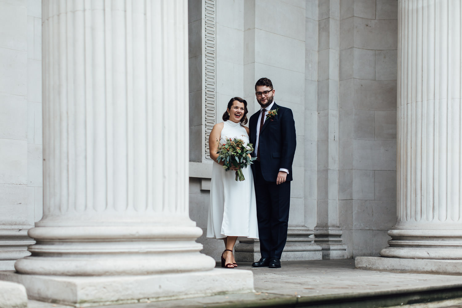Autumn wedding in London | Marylebone Town Hall elopement photos