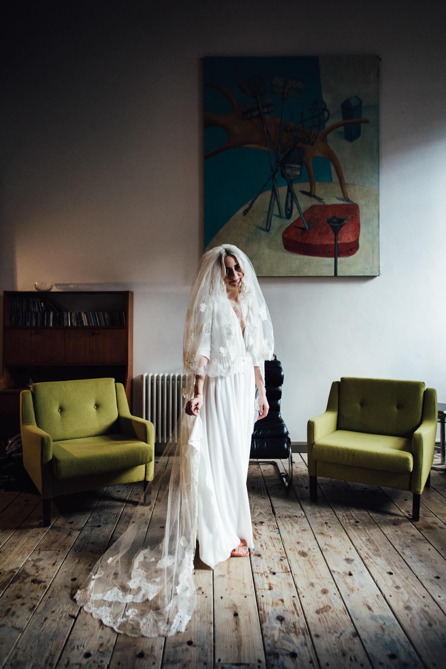 Donatelle Godart wedding dress | East London wedding photographers SP