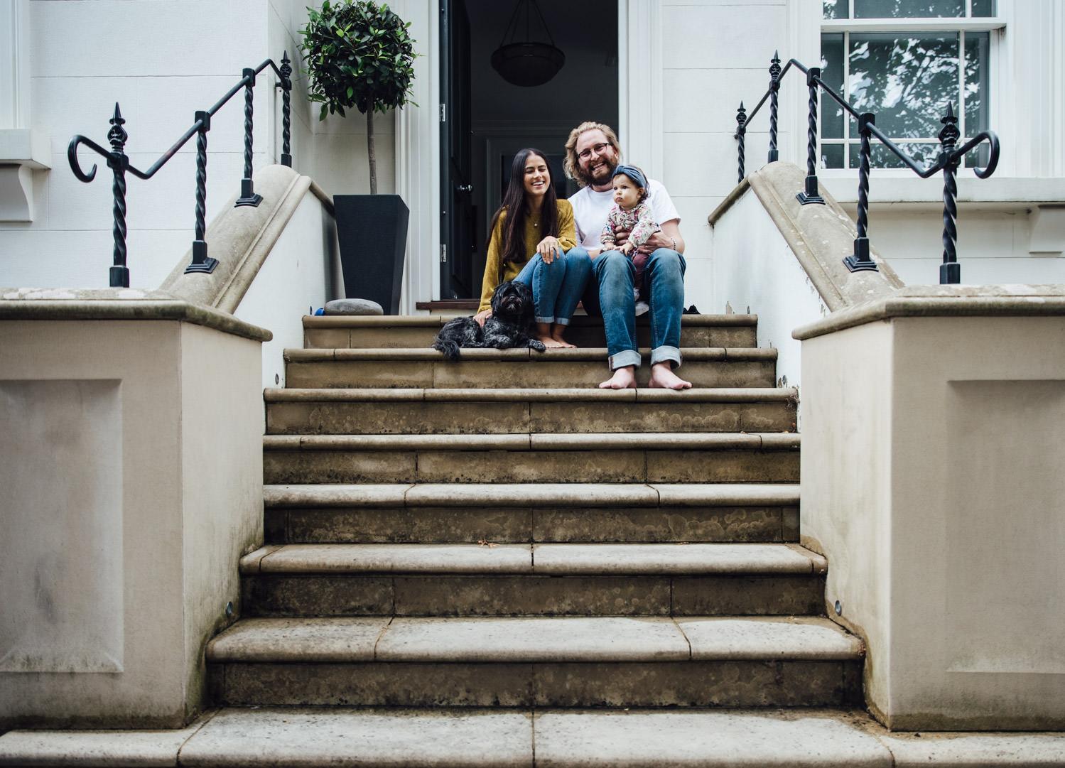 St John's Wood family photography | Doorstep portrait shoot in NW8
