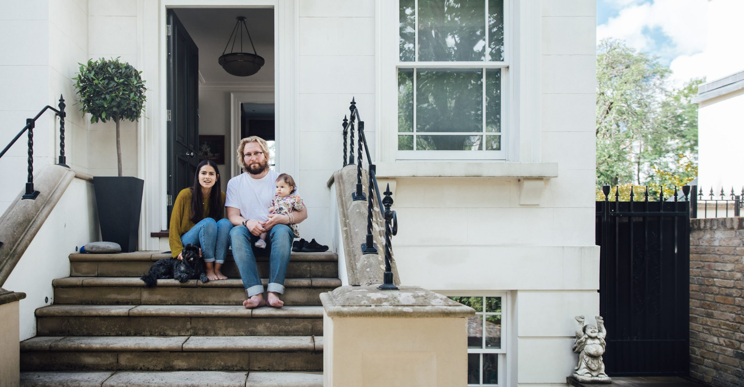St John's Wood family photography | Doorstep portrait shoot in NW8