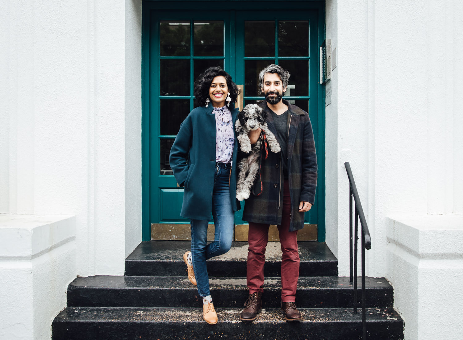 London engagement portraits | Kilburn doorstep photoshoot